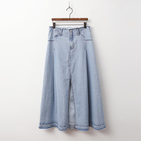 Denim A-Line Long Skirt