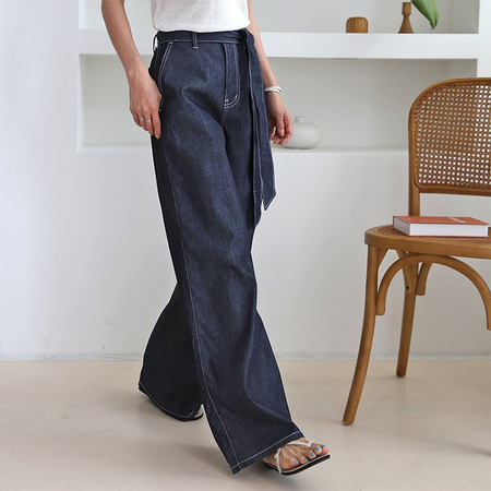 Indigo Denim Wide Pants
