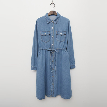 Autumn Denim Shirts Dress