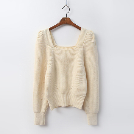 Wool Puff Crop Sweater